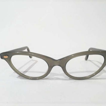 Green Cat Eye Glasses Frames, NOS, Vintage 50s 60s Cateye Eyeglasses, Sunglasses Frames, New Old Stock Vintage French Rockabilly Frames