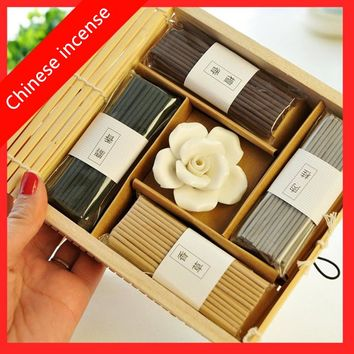Chinese Incense Vintage Curtain Rose Incense Stick Meditation Help You Sleep Fragrance Fresh Air  Aromatherapy Free Shipping