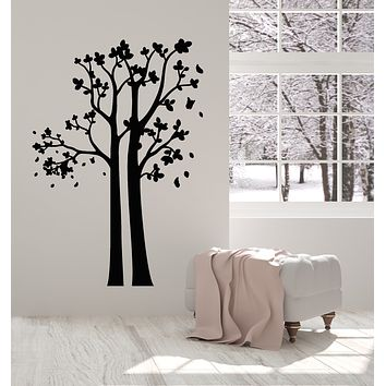 Vinyl Wall Decal Trees Wood Abstract Nature Branch Leaves Room Art Stickers Mural (g1029)