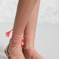 Faux Suede Thong Sandals