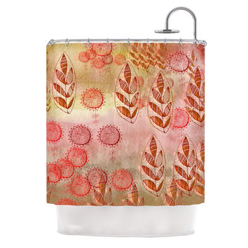 "Marianna Tankelevich ""Summer Music"" Red Orange Shower Curtain"