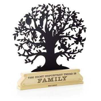 Hallmark Disney The Most Important Thing is Family Metal Tree Silhouette New