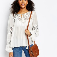 The Cambridge Satchel Company Leather Saddle Bag in Vintage Tan