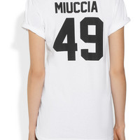 LPD New York | Team Miuccia printed cotton-jersey T-shirt | NET-A-PORTER.COM