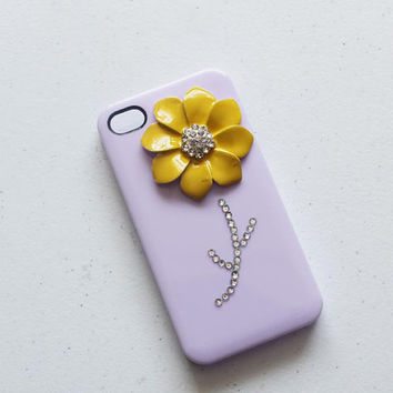 alloy flower crystal decorated iphone case iphone 5 case iphone 4/4s case iphone case