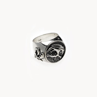 Dragon Tattoo Sterling Silver Signet Ring