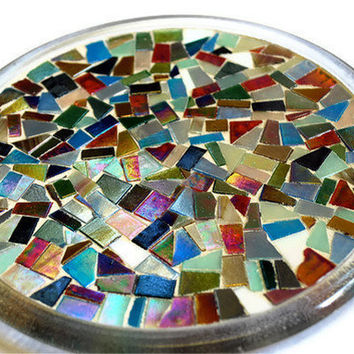 Mosaic Trivet, Candle Holder, Multicolored