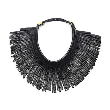 Hayden-Harnett<br>Ilaria Leather Fringe Necklace