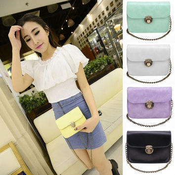 New Women's Fashion Synthetic Leather Retro Chain Shoulder Bag Cross Body Bag