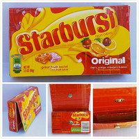 Upcycled - Starburst Candy Box - Wallet - Pouch - Cell Phone Holder