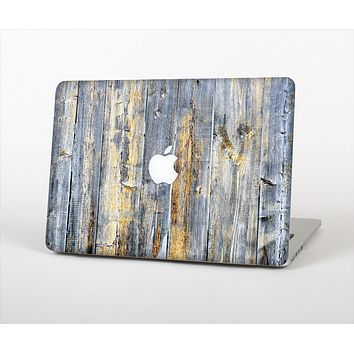 "The Vintage Wooden Planks with Yellow Paint Skin Set for the Apple MacBook Pro 15"" with Retina Display"