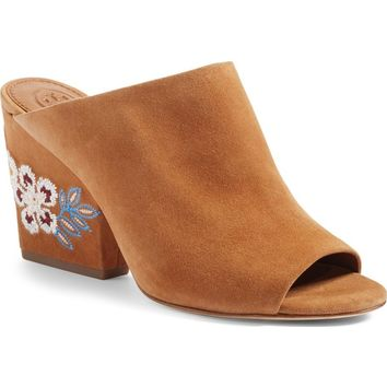 Tory Burch Embroidered Floral Mule (Women) | Nordstrom