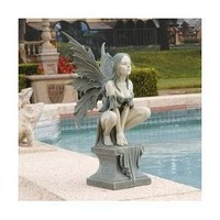 Design Toscano Celtic Fairy's Perilous Perch Garden Statue