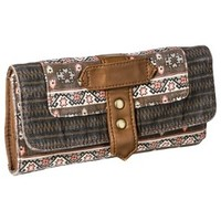 Mossimo Supply Co. Geometric Print Wallet - Brown