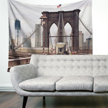 """Brooklyn Bridge"" New York Wall Tapestry"