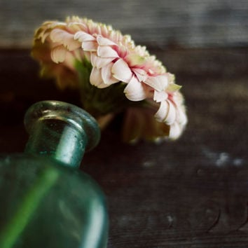 Still life photo, flower photography, romantic art, girly art, bedroom decor, rustic art, cottage style decor, fine art photo, pink,