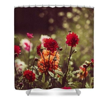 Watercolor Flowers - Shower Curtain