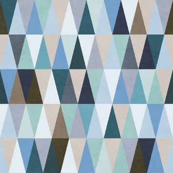 Removable Wallpaper - Moody Triangles 96ft