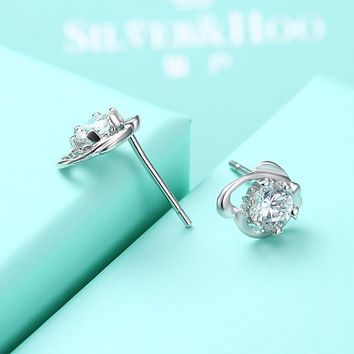 S925 Pure Silver Stud  Fine Jewelry Earrings