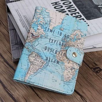The World Map Passport Holder