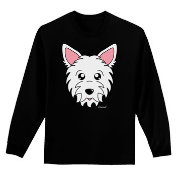 Cute West Highland White Terrier Westie Dog Adult Long Sleeve Dark T-Shirt by TooLoud