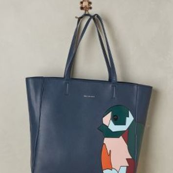 Blocked Bird Tote by Paul & Joe Sister Navy One Size Bags