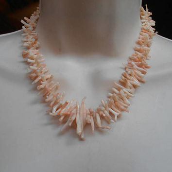 Angel Skin Branch Coral Necklace, Natural