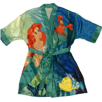 Ariel theme satin robe for women