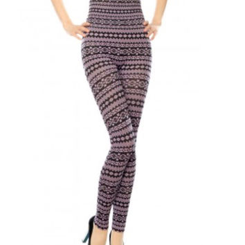 Azteca Print High Waist Leggings