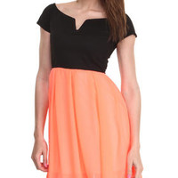 Ponte Top Chiffon Bottom Dress