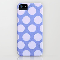 Periwinkle Dots iPhone & iPod Case by Olivia Joy StClaire