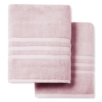 Irvington Luxury Bath Sheets (Set of 2) - Pink