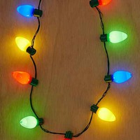 Giant Holiday Light Up Bulb Necklace
