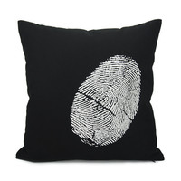Black and white decorative pillow case White by ClassicByNature