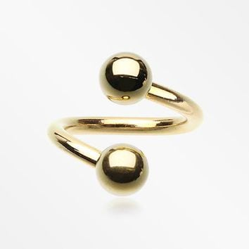 Gold Plated Basic Twist Spiral Ring