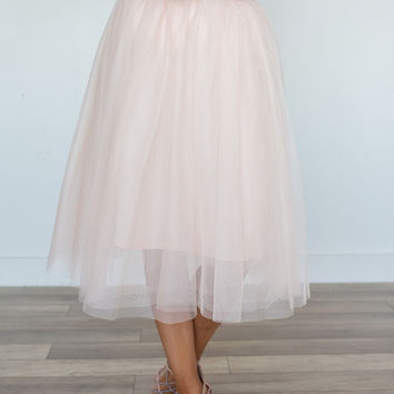 Glass Slipper Tulle Skirt - Blush