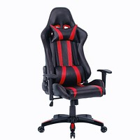Black Red Racing Stripe High Back Reclining Gaming Computer Office Chair