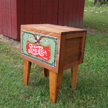 Shipping Crate TABLE  5 cent PEPSI COLA Soda Metal by MrsRekamepip