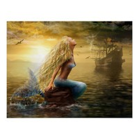 Poster Mermaid /option2 from Zazzle.com