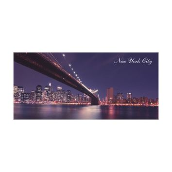 New York City Night Time Skyline Cityscape Canvas Print