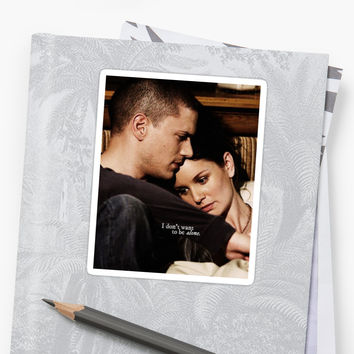 'Prison Break, Michael and Sara' Sticker by CHRYSANTHI PAPAVASILEIOU