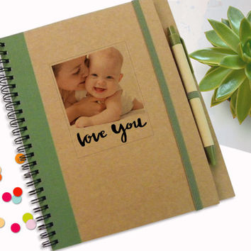 Personalised New Baby Journal, personalized Baby Born Diary, Gift notebook, Gift for Mothers, Gift Idea, Spiral Notebook, Writing Notepad