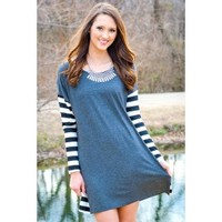 Casual Saturday Tunic in Grey