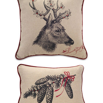 Season's Greetings Nature Accent Pillow Set
