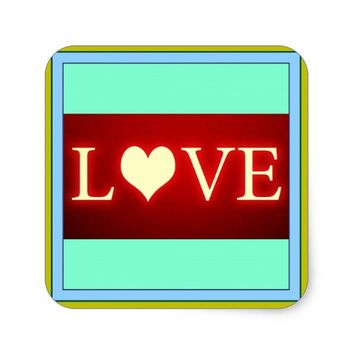 Love Square Sticker