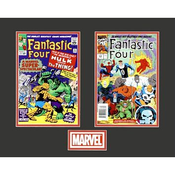Fantastic Four - Limited Edition Lithocel Diptych from the Marvel Collector Covers Series