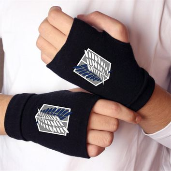 Cool Attack on Titan Anime  Madara cat Finger Cotton Knitting Wrist Gloves Mitten Lovers Anime Accessories Cosplay Fingerless gloves AT_90_11