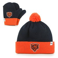 Chicago Bears - Logo Bam Bam Toddler Pom Pom Beanie and Mitten Set