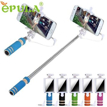 Hot sale Selfie Sticks Monopod Mirror Gifts Handheld Extendable Self Portrait Tripod Stick For Selfie For iPhone Android Phone