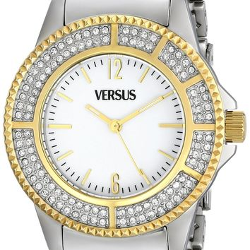 Versus by Versace Women's SH7090013 Tokyo Crystal Analog Display Japanese Quartz Silver Watch